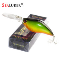 Wholesale lures boxed for sale - Group buy SEALURER Boxed Fishing Lures Float Crankbait Minnow High Quality Tackle mm g Topwater Wobblers with Hooks Y18100806