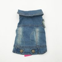 Wholesale puppy xs clothing for sale - Group buy Birthday Party Summer Puppy Dog Vest Denim Jacket Costume Top Fashion Jeans Clothes For Small Large Dogs Blue Xs Xxl