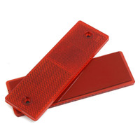 Wholesale car truck red for sale - 1 Red Or White Adhesive Plastic Reflector Reflective Warning Plate Stickers Sign ape For Car SUV Truck Motorcycle Safety