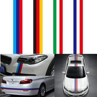 ingrosso styling del corpo bmw-15 CM * 100 CM Car Sticker Auto-styling Per Copertura del Motore Bandiera Nazionale PVC Film Car Body Hood Decal per BMW VW 3 Colori