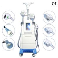 máquinas de pérdida de grasa cara al por mayor-Máquina de congelación de grasas Crioterapia para adelgazar Cavitación Rf Máquina de estiramiento facial Máquina de pérdida de peso con reducción de grasa por congelación