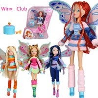Wholesale Mysterious Box - Lovix Fairy Winx Club Doll rainbow colorful girl Action Figures Dolls with Wings and Mysterious box Classic Toys For Girls Gift