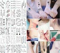 belleza unisex al por mayor-210 Estilos Pegatinas de Tatuaje Arte Corporal Impermeable Tatuajes Temporales Pegatinas Unisex Joyería Regalos Salud Belleza Producto CCA10659 30lot