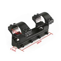 Tactical Diameter 25.4mm One Piece Double Ring High Rifle Scope Mount See-thru Rail with 11mm Weaver