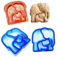 """Wholesale Mold Cutting Cookie - 3.3""""~4.7"""" Cookie Cutter Plastic Sandwich Toast Cut 9 Styles Bread Mold Maker Baking Tools Kitchen Gadgets"""