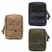 porte-outils militaire achat en gros de-Multifonctionnel 1000D Outdoor Tactique Taille Sac EDC Molle Outil Zipper Taille Pack Accessoire Durable Ceinture Poche