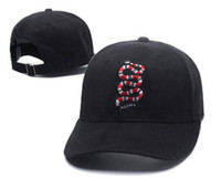 Wholesale Bone Skulls - kpop Luxury brand BAG 2018 Logo Blue Skull and Slip Hats 6 panel skateboard Black snapback dad hats casual visor gorras bone casquette