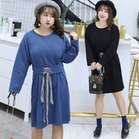 kore yeni ürünü toptan satış-2018 sonbahar yeni ürün, büyük kod, kadın moda, bel elbise, korean elbise, a102