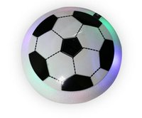 Wholesale field electric - Colorful LED Light Electric Suspended Football Game Lighting Air Cushion Football Sports Toy Indoor Field Gift Toys