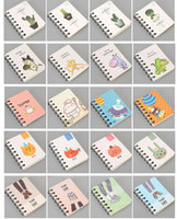 Wholesale cartoon notebook paper - Small Size Loose-leaf Notebook Notepad Diary Journal Student Notes Memo - Cartoon Kawaii Schedule Agenda Stationery Office School Supplies