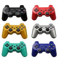 Wholesale force feedback - 2018 New PS3 controllers Wireless Controller Game Controllers Double Shock for PS3 portable video game palyer Game Console