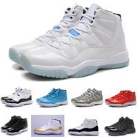 homens de botas de corte médio venda por atacado-Frete grátis clássicos Mid cutb NO. 11 tênis de basquete dos homens venda Quente leve confortável sapatos de desporto XI MID cut sapatilha bota para homens