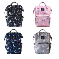 Wholesale nurses cartoons - 4 Colors Unicorn Diaper Bags Nappies Bags Mommy Backpack Fashion Mummy Maternity Backpacks Outdoor Nursing Traveling Bags