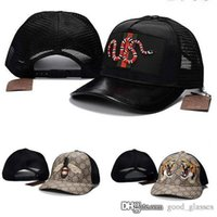 Wholesale fall patterns - Fashion Bee Tiger Baseball Cap Snake Men Women Brand Designer Sports G Truck Mesh Hats Caps Hip Hop Snapbacks Cool Pattern New Casual Hat