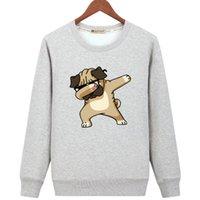 homens engraçados dos hoodies venda por atacado-Moda Streetwear com capuz For Men Hip Hop camisola dos desenhos animados engraçado Men manga comprida Hoodies Suéter