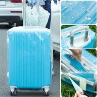 protetores de bagagem venda por atacado-Saco transparente da tampa da mala de viagem do protetor da bagagem do curso do PVC Dustproof impermeável