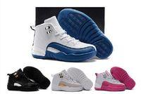 спортивная обувь для детей оптовых-Детские 12 дети баскетбол обувь молодежь дети Спортивная 12 спортивная обувь для мальчиков обувь для девочек Бесплатная доставка размер:28-35