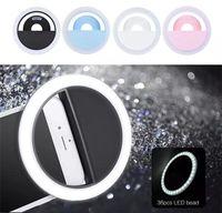 andere kamera großhandel-LED Selfie Ring Licht RK-12 USB Rechareable LED Selfie Ring Kamera Verbesserung der Fotografie für iPhone und andere SmartPhones