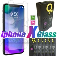 Wholesale Retail Packaging Paper - Tempered Glass Screen Protector Film For Iphone X iphone 8 Plus Iphone 7 Plus With Retail Paper Package