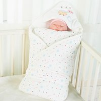 Wholesale Multi Color Floral Bedding - Wholesale- 90cm*90cm muqian Baby blanket autumn and winter thickening blankets cotton baby soft package baby bedding novatx sleeping bags