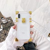 Wholesale paris crystal - Luxury Crystal Transparent Paris fashion show Phone Case Hybrid Metal PC Back Case Cover for iphone X 8 7plus 8plus 6 6splus