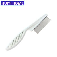 Wholesale Pet Flea Products - Huiyi Home Pet Dog Hair Brush Grooming Cat Puppy Stainless Pin Brushes Cleaning Flea Comb Pets Products For Small Dogs ENF007