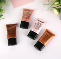 gesichtscremes machen großhandel-NYX Marke Face Concealer Foundation Flüssiges Make-up Geboren, um flüssige Illuminator BB Creme Make-up Kosmetik Hautpflege Dropshipping zu leuchten