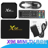braço de caixa de tv android venda por atacado-X96 Mini Android 7.1 Tv Box 1 GB 8 GB 2 GB 16 GB Amlogic S905W Quad Core Media Player ARM Cortex CPU A53 Mali-450MP Melhor MXQ PRO TX3 Mini