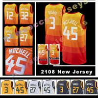 Wholesale m jazz - MEN'S Utah Jazz 2018 NEW Rudy Gobert Donovan Mitchell Ricky Rubio Joe Ingles karl malone High quality Jersey