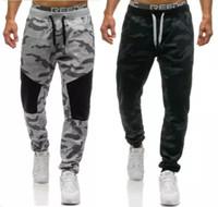 Wholesale male tracksuits - Men Casual Pants 2018 Male Brand Straight Trousers Camouflage Long Pants Cotton Sweatpants Jogger Tracksuit Funky Sweatpants XXL