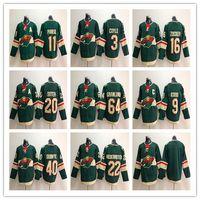 Wholesale green jersey koivu for sale - Group buy Minnesota Wild Hockey Jerseys Zach Parise Ryan Suter Charlie Coyle Mikko Koivu Jason Zucker Mikael Granlund