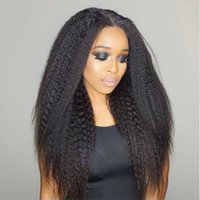 Wholesale Beauty On Line Kinky Straight Hair Peruvian Hair Weave Bundles Deal One Piece Natural Color Coarse Yaki Human Virgin Hair Extension