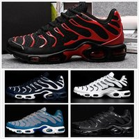 Wholesale purple lace material - 2017 New Men High Quality vapormax casual Shoes TN Nanotechnology KPU Material Classical Durable Maxes TNS Sneakers Size 40-47