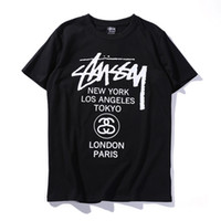 Wholesale hot pink shirts for sale - New Cotton Male and Female Lovers T Shirts 2018 Hot Sale Short Sleeve Tee Letter Printed Fashion Brand Designer T Shirt for Men Women