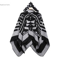 5c288bdd7dcf 2016 New Hot Women s Winter Poncho Vintage Blanket Thick Warm Knitted Shawl Wrap  Coat Hooded Cape Imitated Cashmere Scarf Poncho