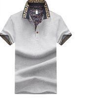 ingrosso la moda britannica per il formato più-T-shirt uomo manica corta estiva manica corta patchwork moda tee stile britannico maglietta tshirt top vestiti plus size m-5xl