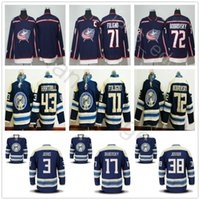 Wholesale Men S Jacket 4xl - 2018 New Style Columbus Blue Jackets Hockey 3 Seth Jones 17 Brandon Dubinsky 38 Jenner Boone 71 Nick Foligno 72 Sergei Bobrovsky Jersey