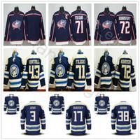 Wholesale Nicks Jerseys - 2018 New Style Columbus Blue Jackets Hockey 3 Seth Jones 17 Brandon Dubinsky 38 Jenner Boone 71 Nick Foligno 72 Sergei Bobrovsky Jersey
