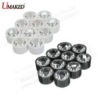 Wholesale Led Holder Lens - 10 50 100 300pcs 20mm 5 8 15 30 45 60 90 120 Degree Clear LED Lens + 22mm Black White Holder For 1W 3W 5W LED Light Diodes