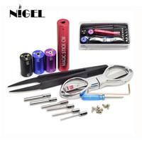 vape wire jig großhandel-Nigel Coiling Kit 6 in 1 Coil Zauberstab CW Coiling Jig Kit Heizdraht Docht Werkzeug Für Vape DIY RDA RBA Zerstäuber mod