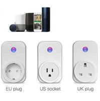 Wholesale remote power socket switch - Smart WiFi Socket Outlet Timer Control Power Switch Electronic Plug Timing Switch Remote Control Power Socket OOA3971