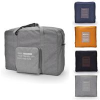 Wholesale luggage round - Travel Luggage Bag Fashion Women Folding Carry-on Duffle Bag Foldable Portable Bag Zipper Bags 4 color T1I290