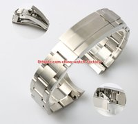 Wholesale 21mm strap - Luxury High Quality 21mm 116660 Watch Bands Strap Stainless Steel Bracelet Buckle Deployment Safety Folding Clasp For Sea-Dweller Watches