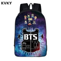 Wholesale exo bags - BTS School Backpacks Kpop BTS EXO Got7 BAP Backpack For Teenager Bangtan Boys Bags Women Men Hip Hop Travel Bags