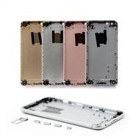 reemplazo de la cubierta de la carcasa del iphone de oro al por mayor-La cubierta trasera para iPhone marco 6s 6sPlus Plus tapa de la batería cubierta de la caja Medio reemplazo Chasis Cuerpo Negro Oro Plata gratuito IMEI