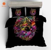 cama de coruja cheia venda por atacado-3 Pcs Impresso Bohemia coruja Conjunto de Cama Gêmea Macia Completa Rei Rainha Capa de Edredão com fronhas Capa de Quilt Têxtil Para Casa SJ208