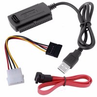 Wholesale Hard Drive Usb Adapter Ide - SATA PATA IDE Drive to USB 2.0 Adapter Converter Cable For 2.5   3.5 Inch Hard Drive