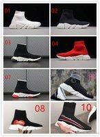 qualidade do gás venda por atacado-2019 novo BAL * NCI * GA Meia Sapato Velocidade Trainer Tênis de Corrida de Alta Qualidade Sneakers Speed Trainer Meias Corredores Corredores Sapatos Calçados Esportivos lzdboss