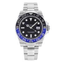 hochleistungsuhren großhandel-Luxury High Quality Armbanduhren GMT 116710 MASTER ll 116710BLNR BATMAN STAHL BLUE BLACK 116710 BLNR 40MM Bewegung Automatische Herrenuhren