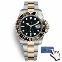 Wholesale Two Tone Luxury Watches - Top AAA Luxury Mens Watches Ceramic Bezel Mechanical Automatic Two Tone Watch Self-wind Watches Silver with Gold Stainless Stell Wristwatch